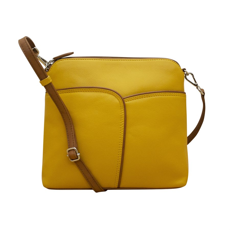 Two Tone Leather Crossbody