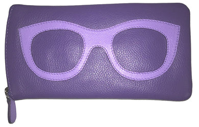 Genuine Leather Sunglasses Case Purple