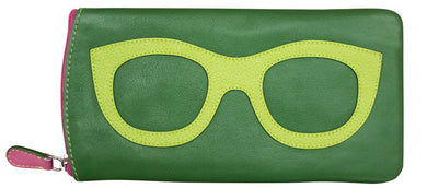 Genuine Leather Sunglasses Case Emerald