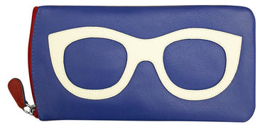 Genuine Leather Sunglasses Case Nautical