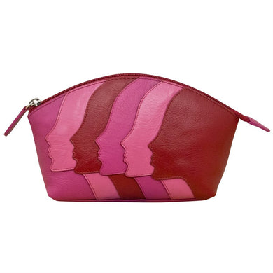 Genuine Leather Makeup Bag