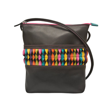 Genuine Leather Medium Cross body With Twist detail