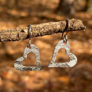 Meteorite Heart Earrings
