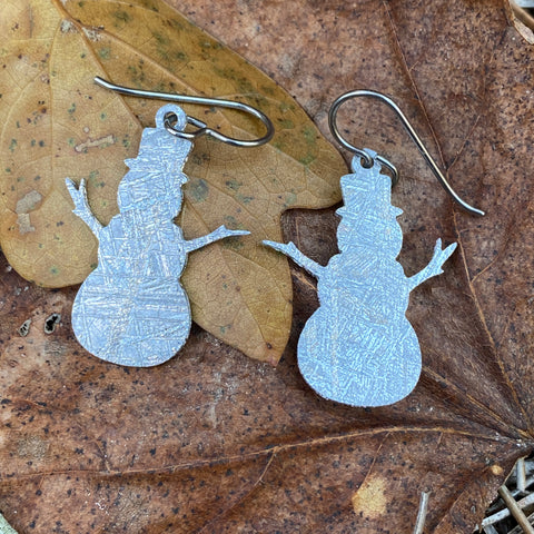 Meteorite Snowmen Earrings