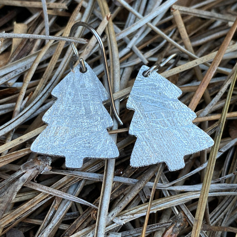 Meteorite Christmas Tree Earrings