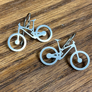Titanium Mountain Bike Earrings