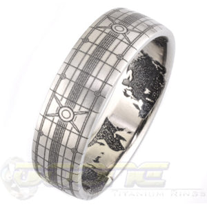 original gamer design laser engraved titanium ring