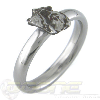 meteorite rock on a dome profile ring