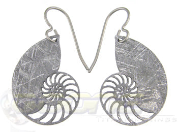 nautilus meteorite earrings