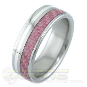 Pink Carbon Fiber with Silver