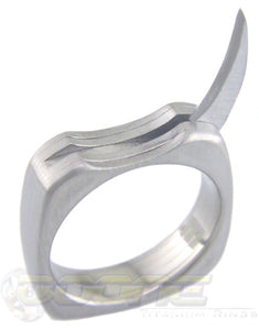 raptor titanium ring with single blade that pulls out of ring