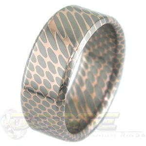 SuperConductor Flat with Bevels Ring in 8mm Width