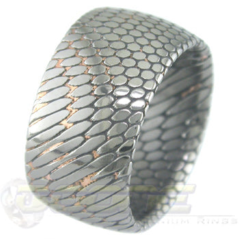 SuperConductor Dome Ring in 12mm Width Etched