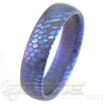 Anodized SuperConductor Dome Ring in 6mm Width Etched