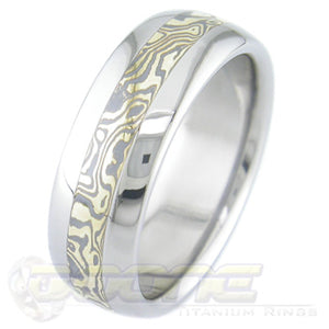 Gold and Silver Mokume
