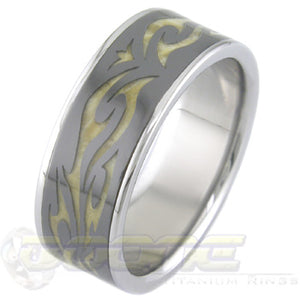 Tribal with Titanium, Black Zirconium and Wood