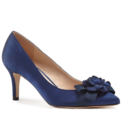 Trousseau bridal and wedding shoes nz trousseau shoes adaline navy junglespirit Image collections