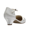 Paisley ivory satin , 3cm heel, closed toe wedding shoe - NZ