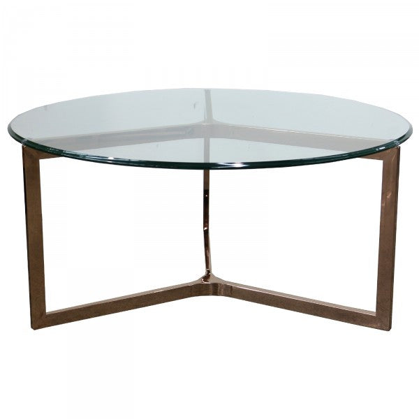 BARCELONA Coffee Table Round Rose Gold