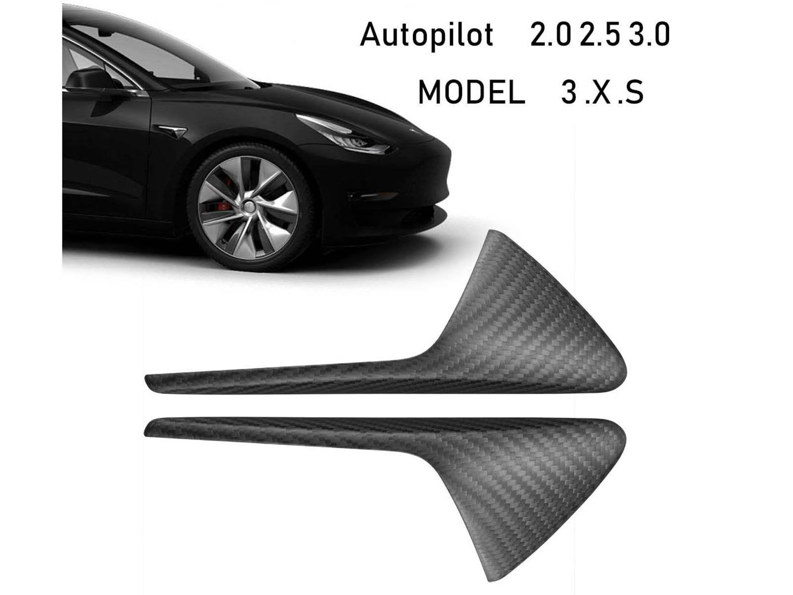 All Tesla Models: Side Fender Vent Camera Trim (Genuine Carbon Fiber Collection) - Torque Alliance
