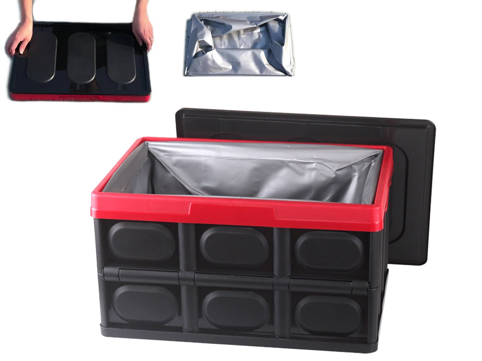 Foldable & Portable Storage Box incl. Waterproof Liner (55 Liters) - Torque Alliance