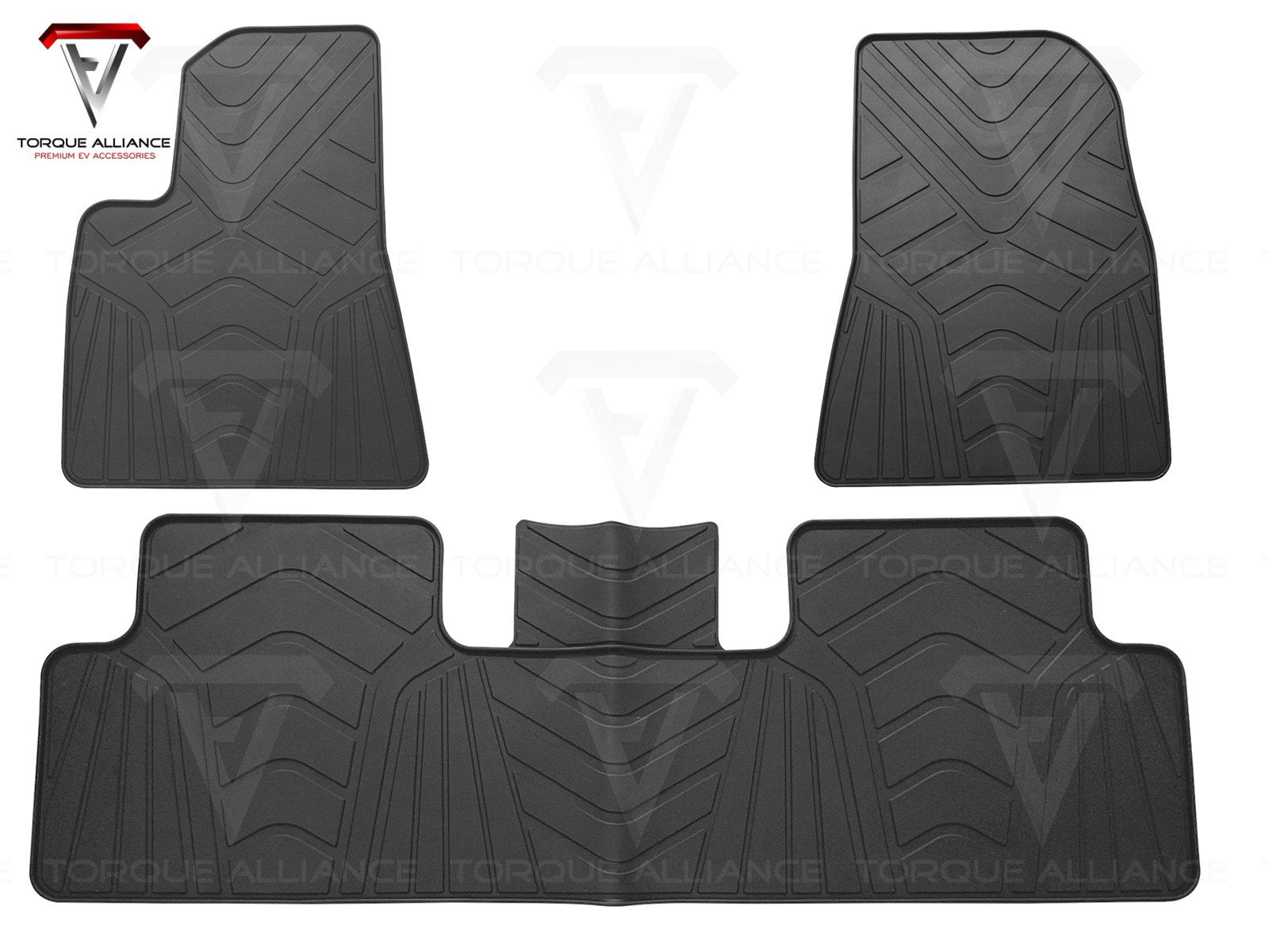Model 3: All-weather Interior Floor Mats (3 pcs, Synthetic Latex Rubber) - Torque Alliance