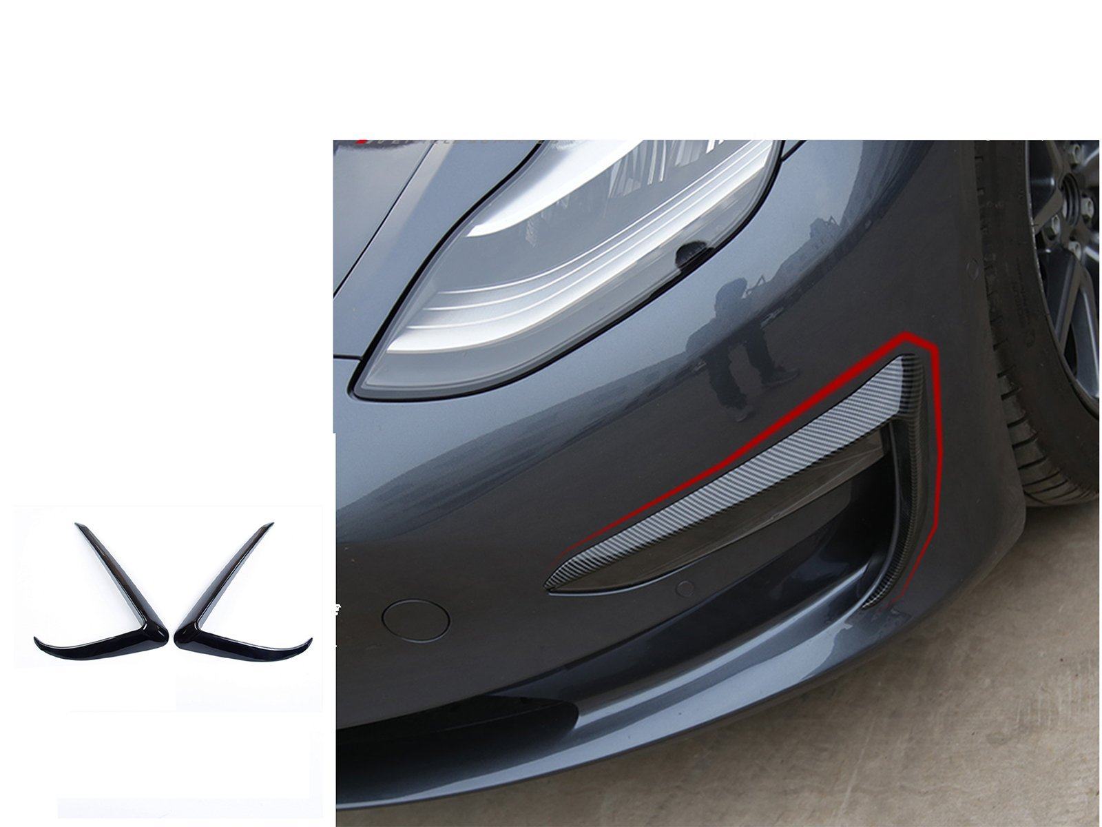 Model 3: Fog Light Trim Blade (2 pieces) - Torque Alliance