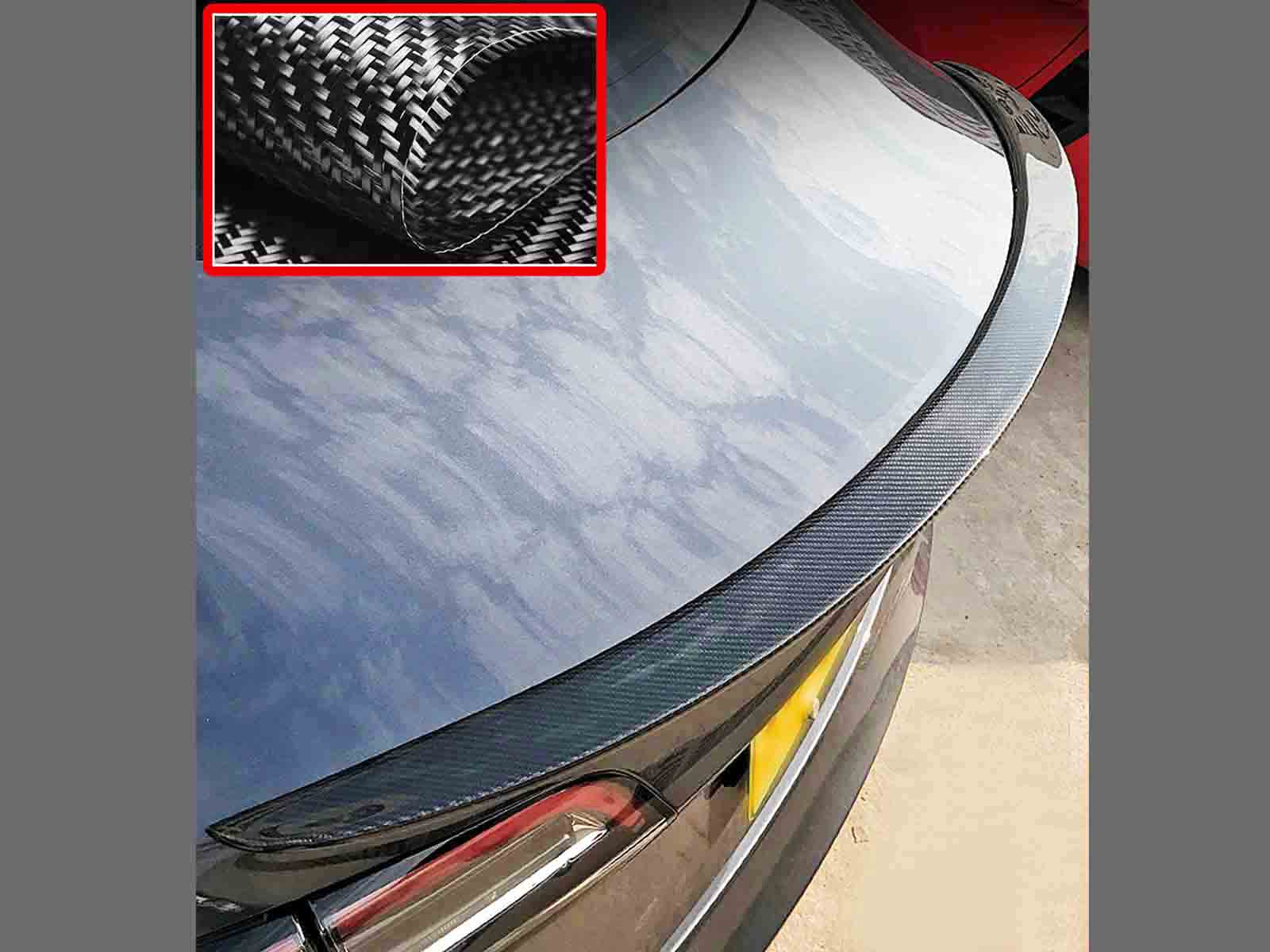 Model 3_Performance Tail Spoiler (Genuine Carbon Fiber Collection) - Torque Alliance