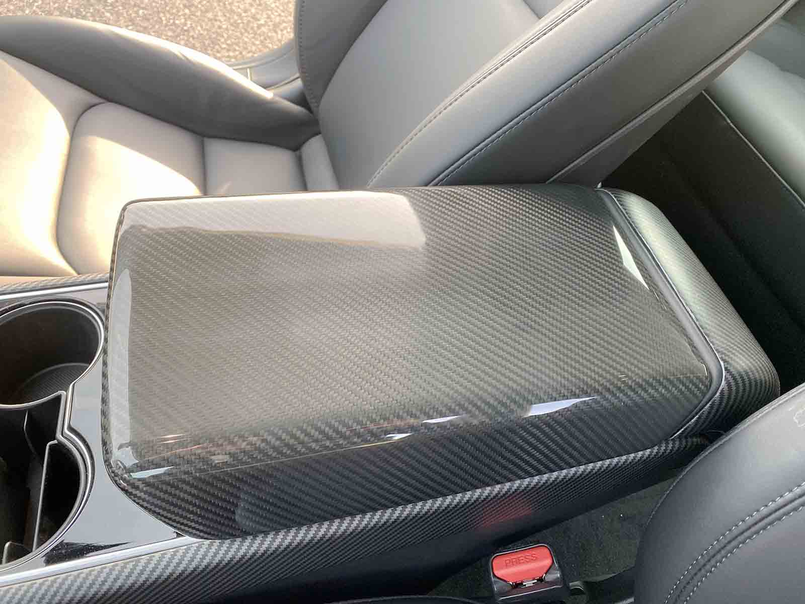Model 3&Y: Armrest Cover (Genuine Carbon Fiber Collection) - Torque Alliance
