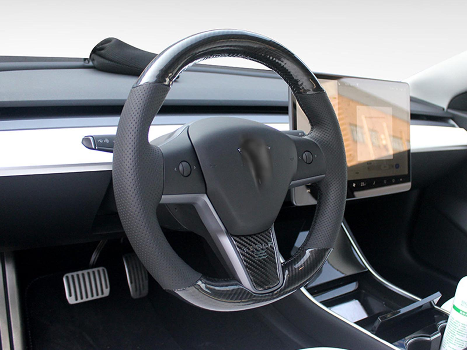 Model 3&Y: Custom Carbon Fiber Steering Wheel - Torque Alliance