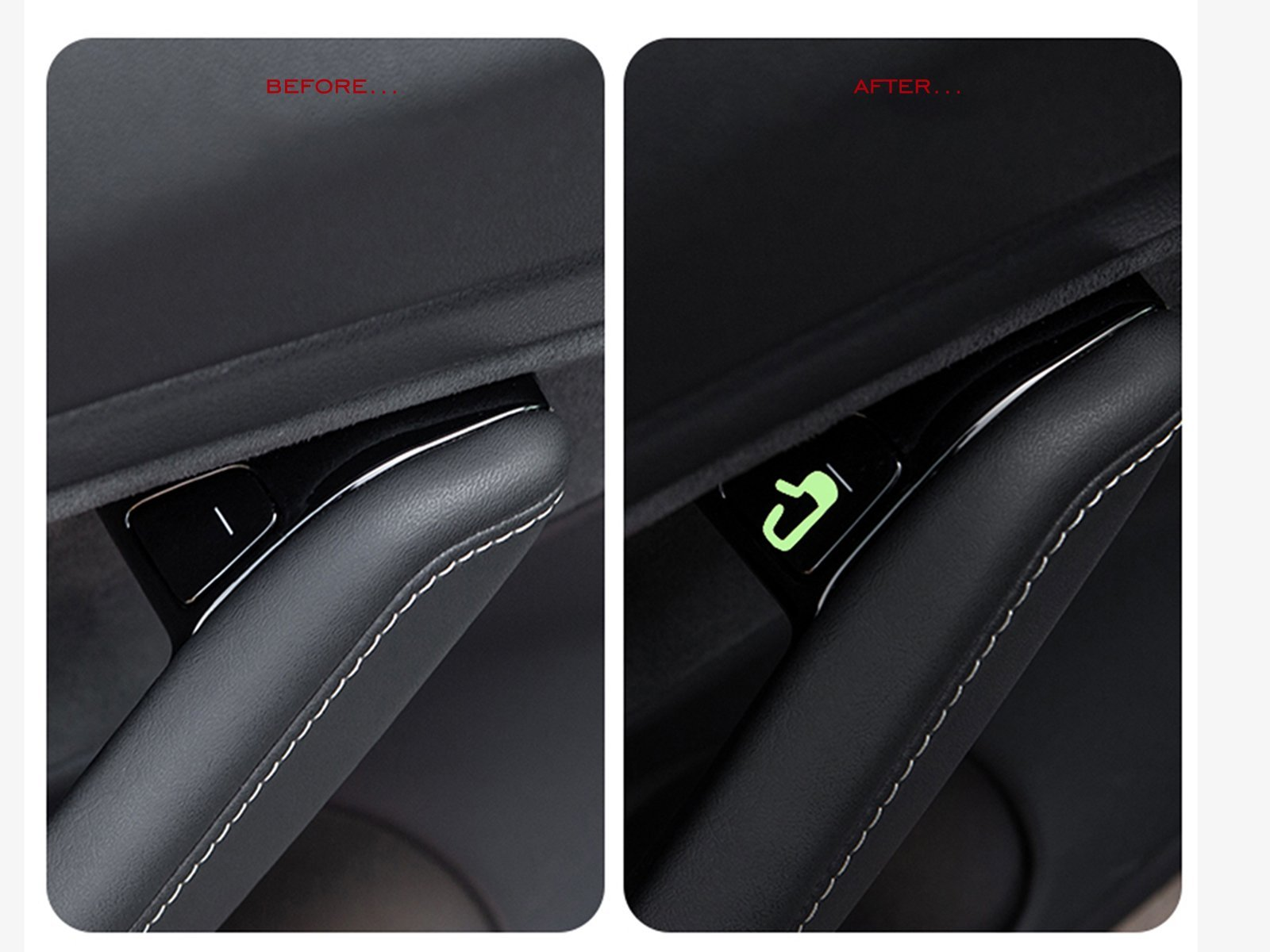 Model 3/Y: Door-open Button Stickers (8 pieces, Fluorescent) - Torque Alliance