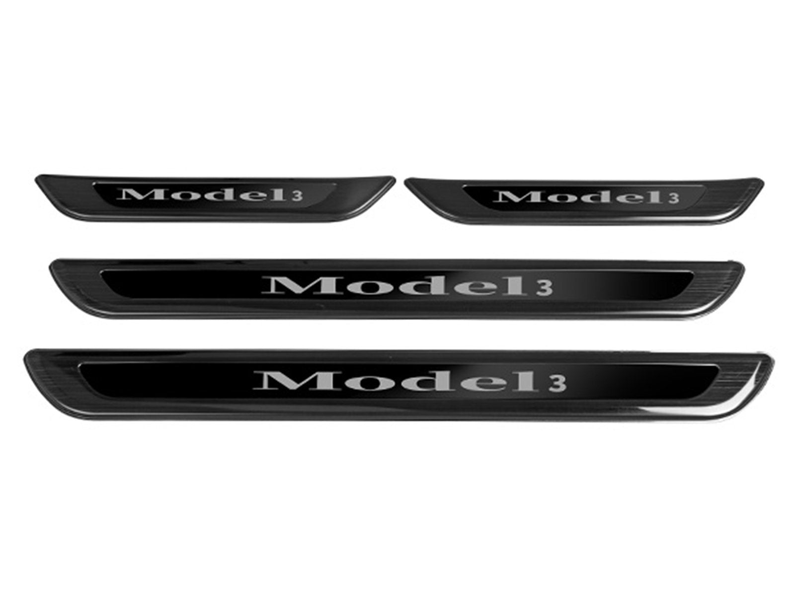 Model 3&Y: Door Sill Protectors (4 pieces, Durable Stainless Steel) - Torque Alliance