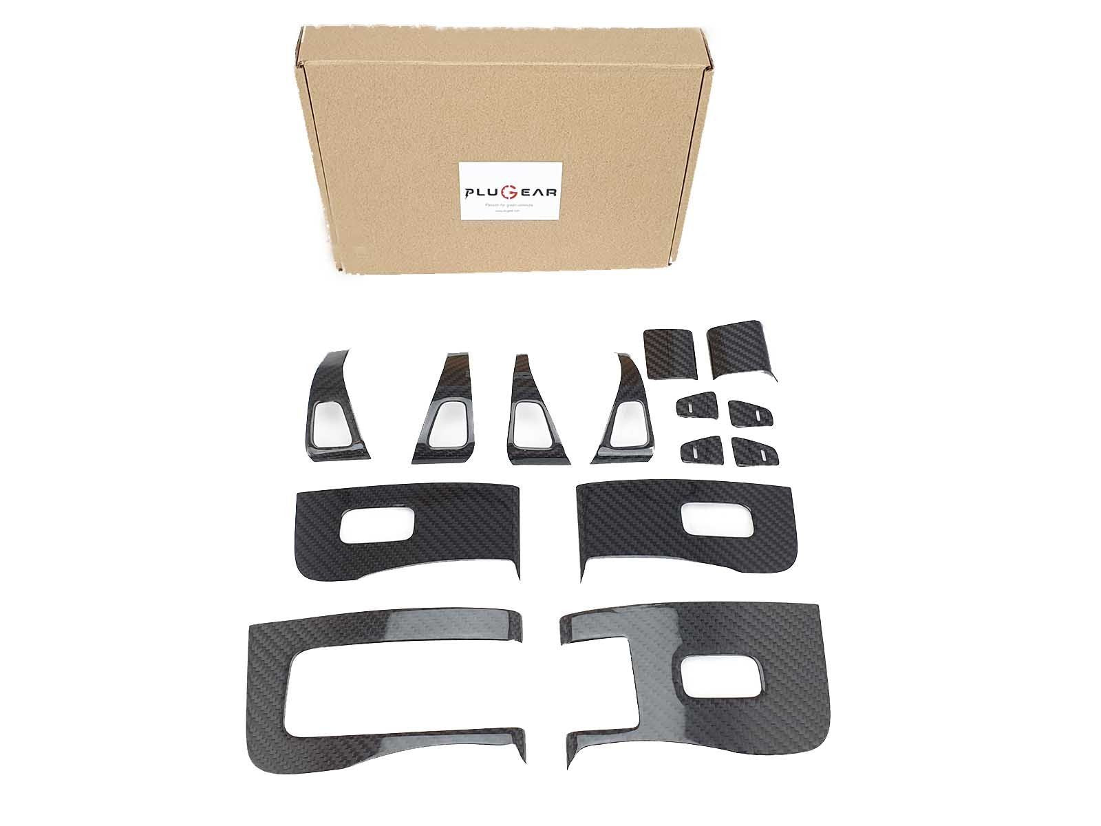 Model 3/Y: Interior Buttons Upgrade Set (14 Pieces) - Torque Alliance