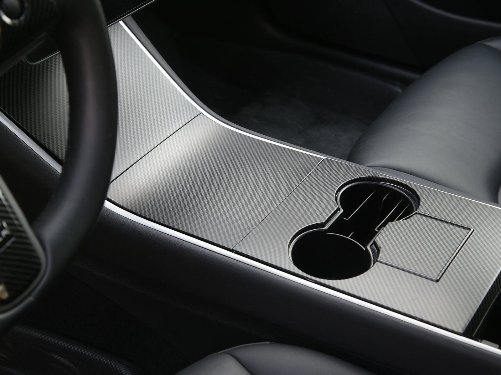 Model 3/Y: Middle Console Cover Set (ABS+coating) - Torque Alliance