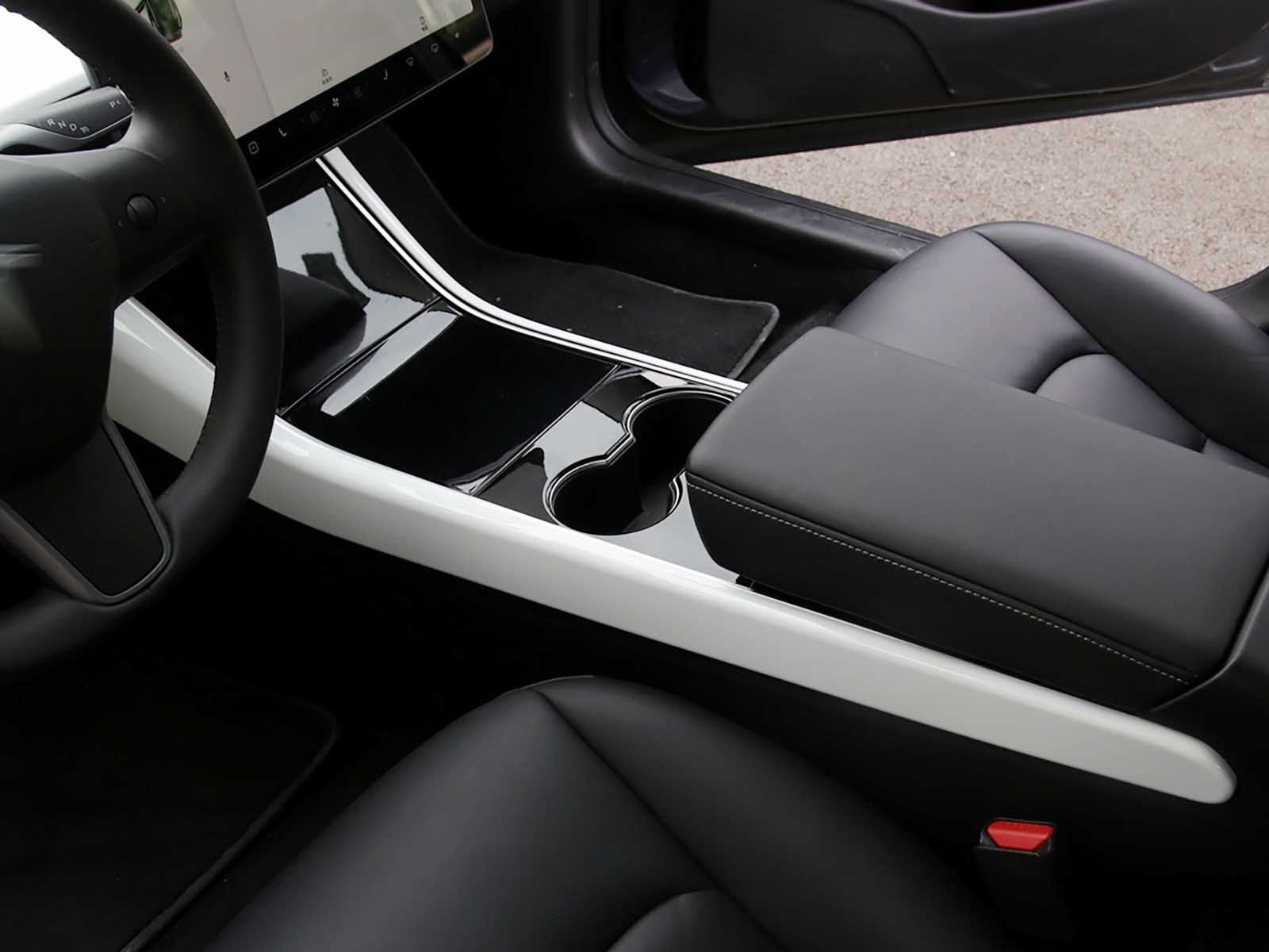 Model 3/Y: Middle Console Edge Trims (2 pieces, ABS + Coating) - Torque Alliance