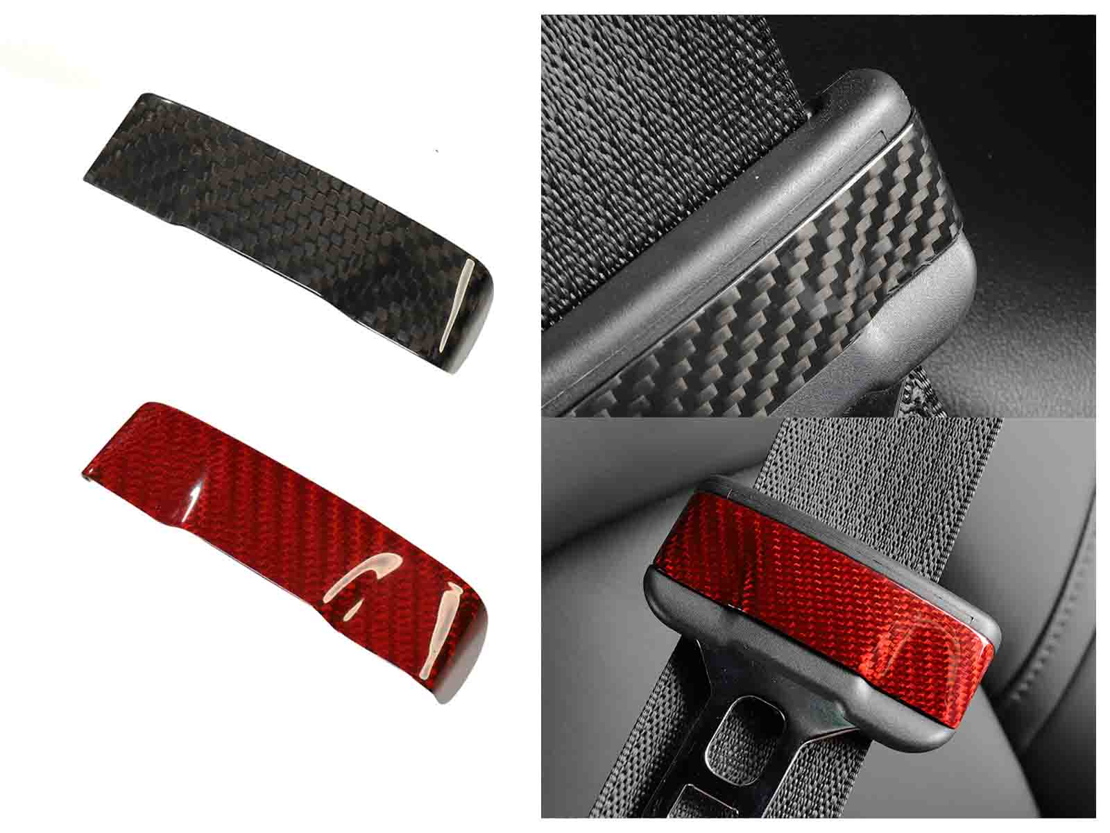 Model 3&Y: Seat belt decorative patch (Carbon fiber) - Torque Alliance