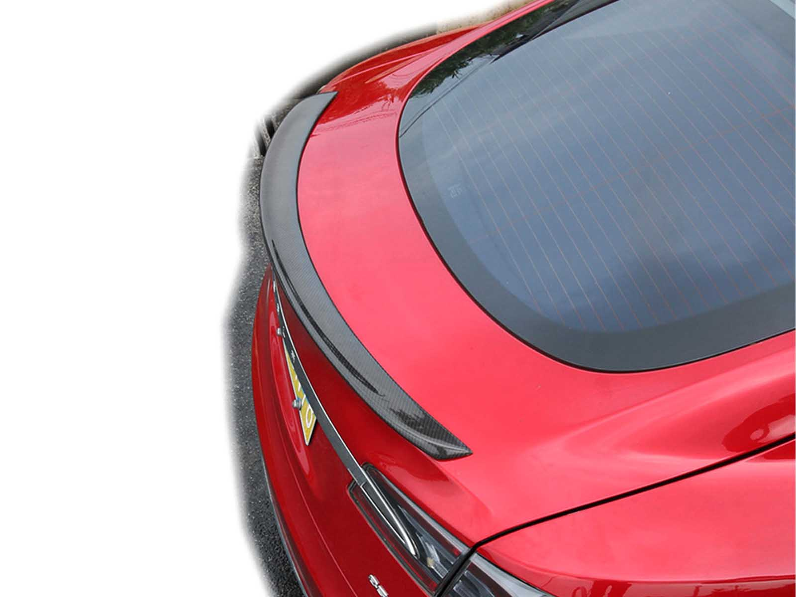 Model S: Real Carbon Fiber Tail Spoiler - Torque Alliance