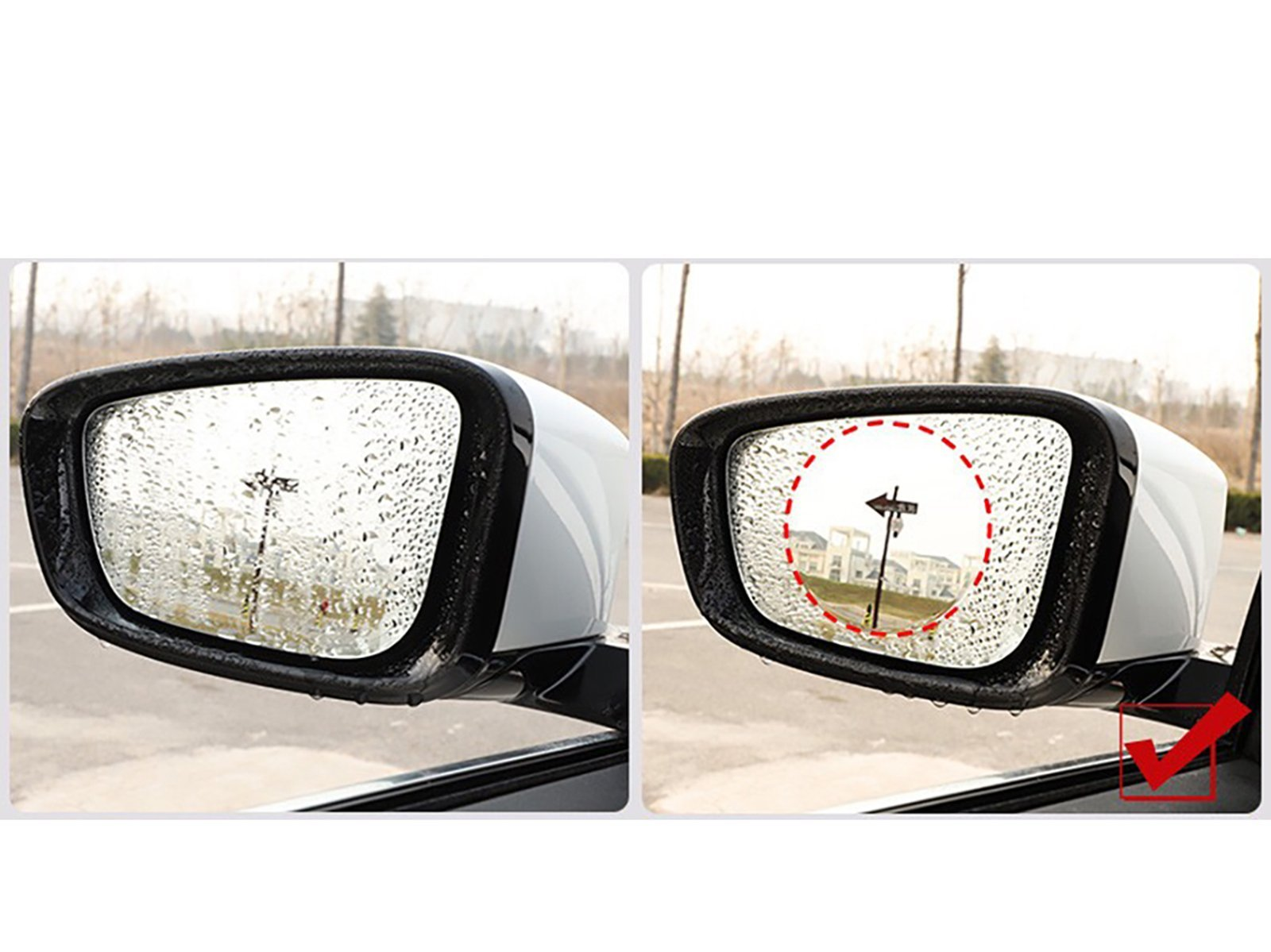 Rear Mirror + Side Windows Anti-fog Sticker Set - Torque Alliance
