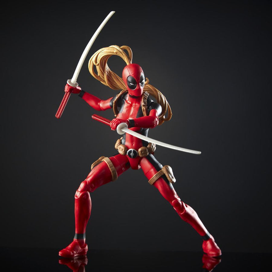 Marvel Legends Series Lady Deadpool Figure Action Articulation