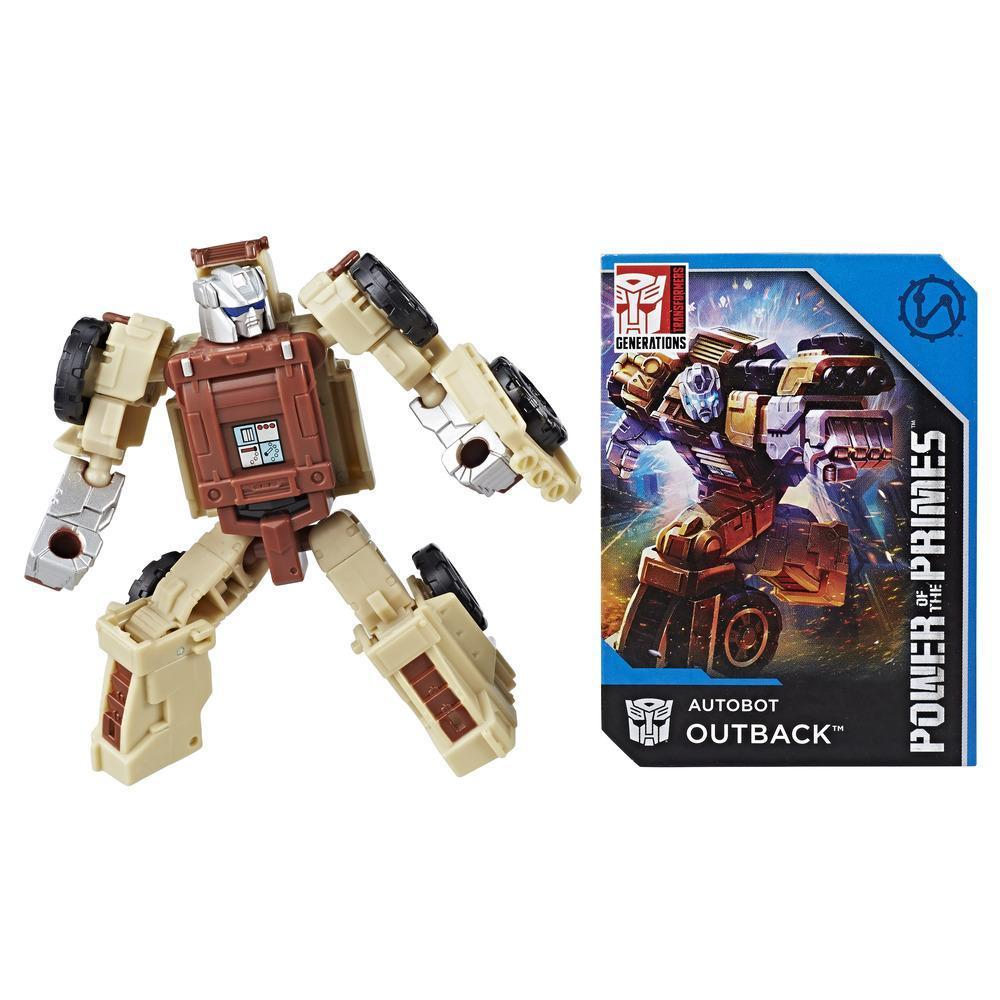 Transformers: Generations Power of the Primes Legends Class Autobot Outback Figure Robot Mode and Collector Card
