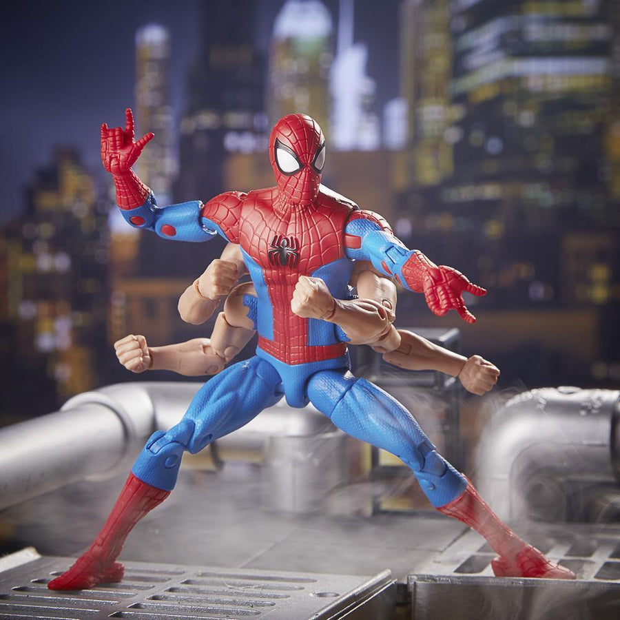 Spider-Man Marvel Legends Series Six-Arm Spider-Man Figure in Backdrop