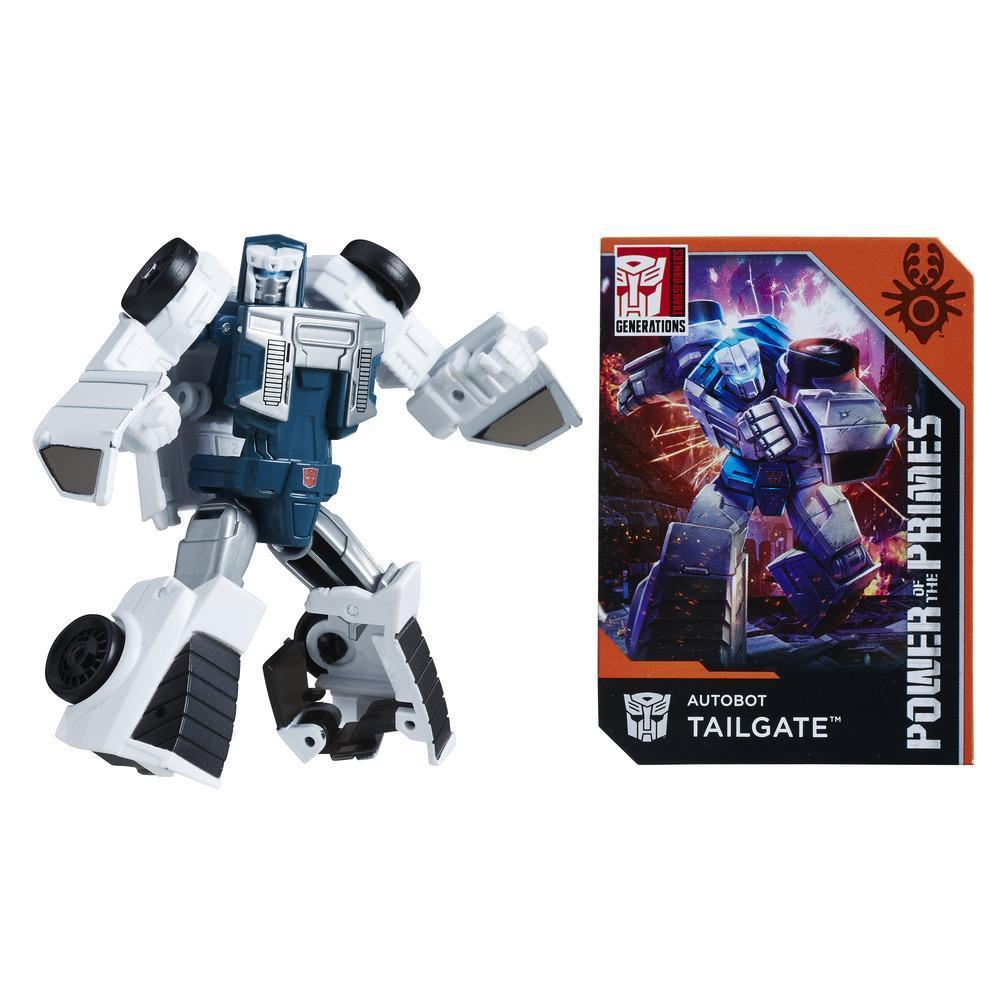 Transformers: Generations Power of the Primes Legends Class Autobot Tailgate Figure Robot Mode and Collector Card