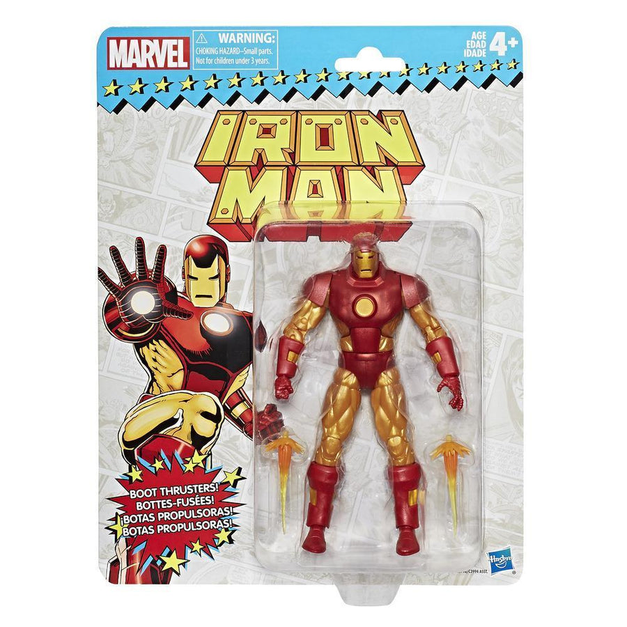 Marvel Retro Collection Iron Man Figure Packaging