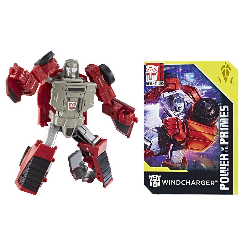 Transformers: Generations Power of the Primes Legends Class Windcharger Figure Robot Mode and Collector Card