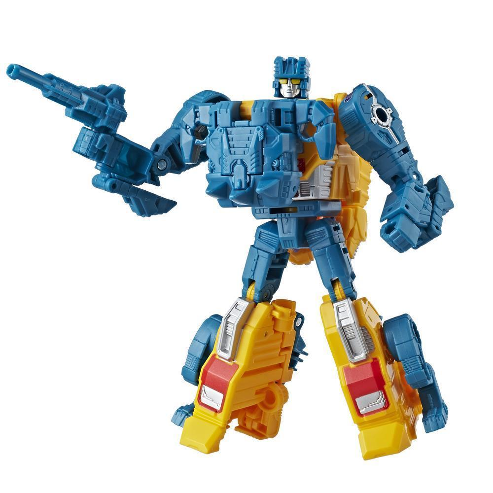 Transformers Generations Power of the Primes Deluxe Class Sinnertwin Figure Robot Mode