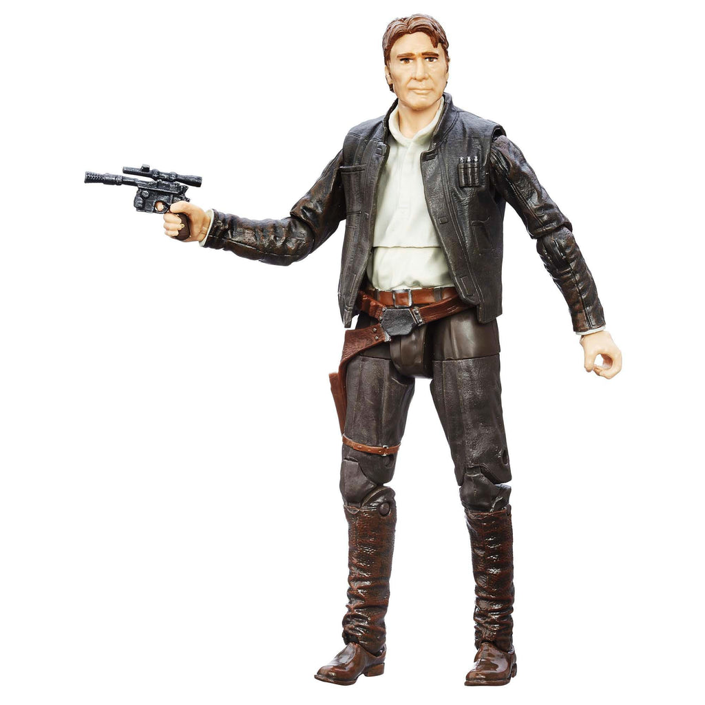 Star Wars Black Series The Force Awakens Han Solo Action Figure Front Pose