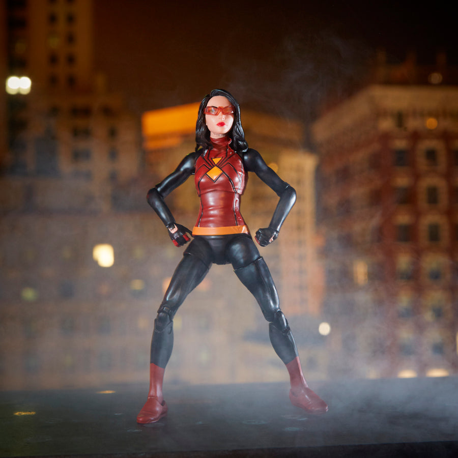 Spider-Man Marvel Legends Series Spider-Woman Figure With Diorama Background