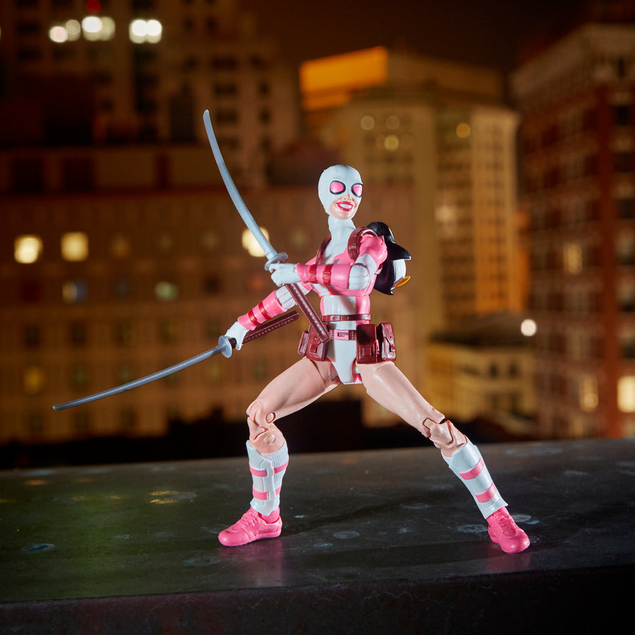 Spider-Man Marvel Legends Series Gwenpool Figure With Diorama Background