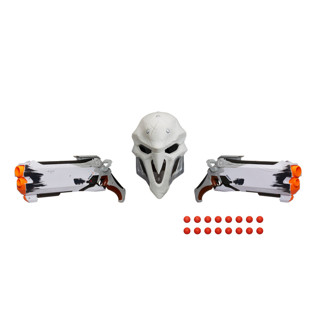 Nerf Rival Overwatch Reaper (Wight Edition) Collector Pack Blasters, Mask, and Rounds