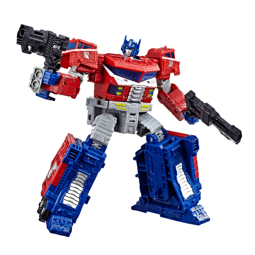 Transformers Generations War for Cybertron Leader WFC-S40 Galaxy Upgrade Optimus Prime Figure Robot Mode